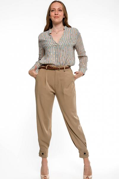 Tailored Trousers παντελόνι - κάμελ
